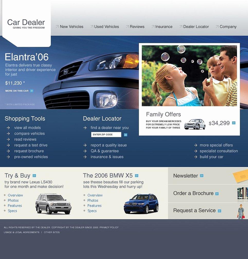 Car Dealer Website Template Free Elegant Car Dealer Website Template 9536