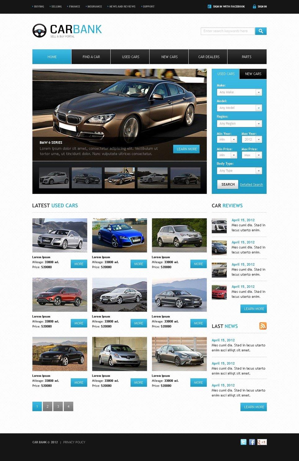 Car Dealer Website Template Free Elegant Car Dealer Website Template