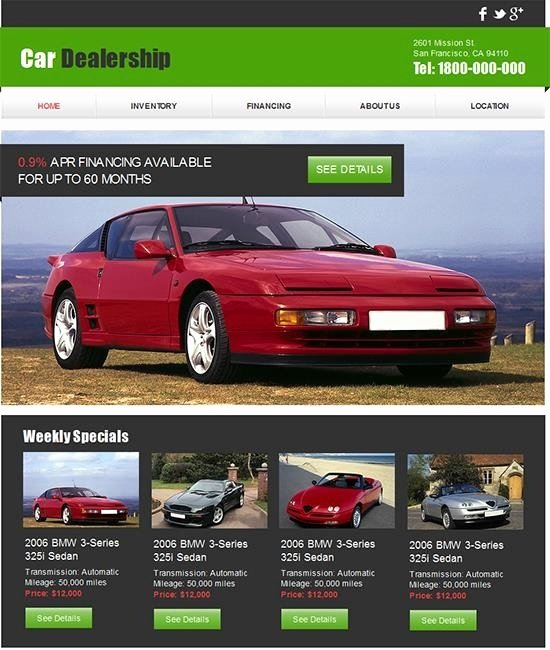 Car Dealer Website Template Free Fresh Car Dealer Website Template Free Icebergcoworking
