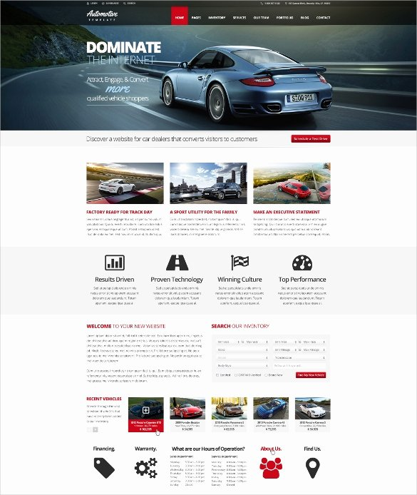 Car Dealer Website Template Free Inspirational 28 Car Dealer Website themes & Templates