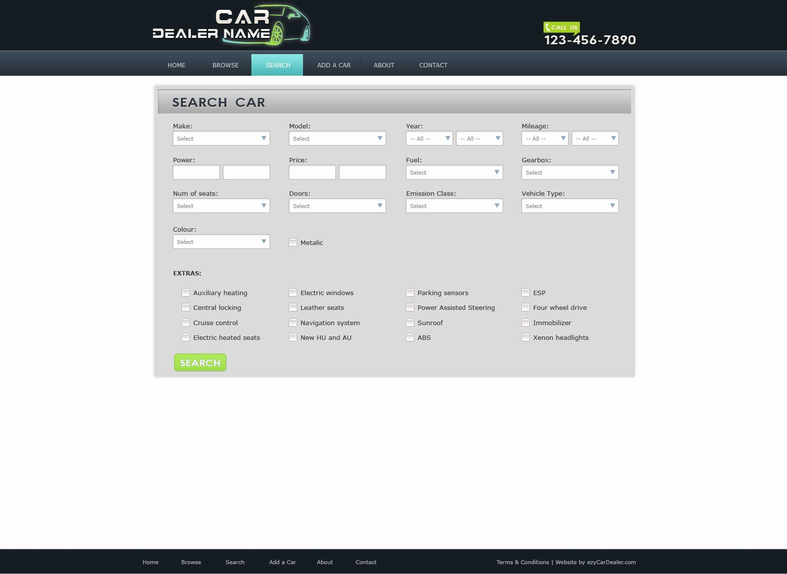 Car Dealer Website Template Free Inspirational Car Dealer Website Template