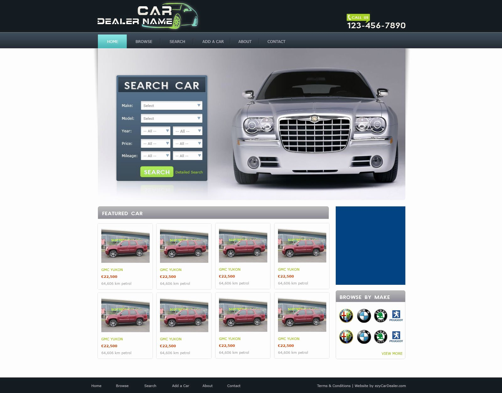 Car Dealer Website Template Free Inspirational Car Dealer Website Template