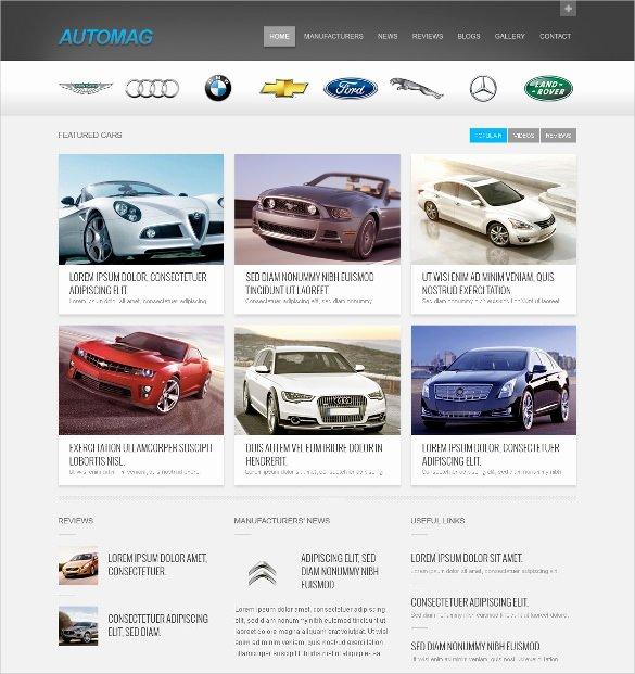 Car Dealer Website Template Free Lovely 28 Car Dealer Website themes & Templates