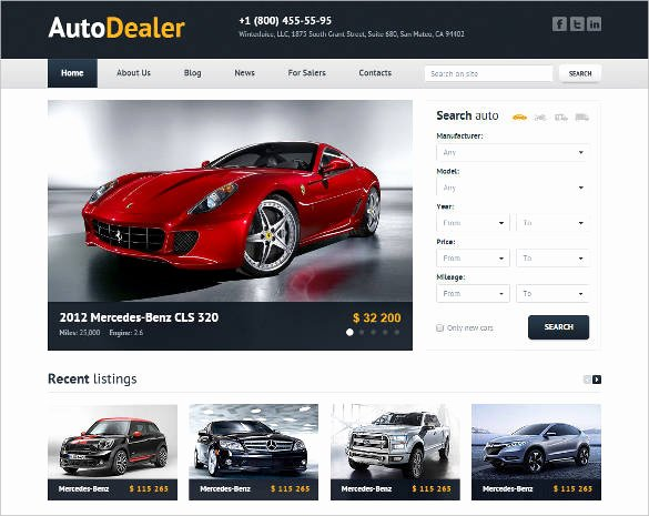 Car Dealer Website Template Free Luxury 28 Car Dealer Website themes & Templates