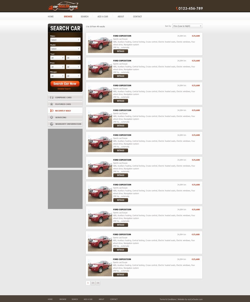 Car Dealer Website Template Free Luxury Car Dealer Website Template