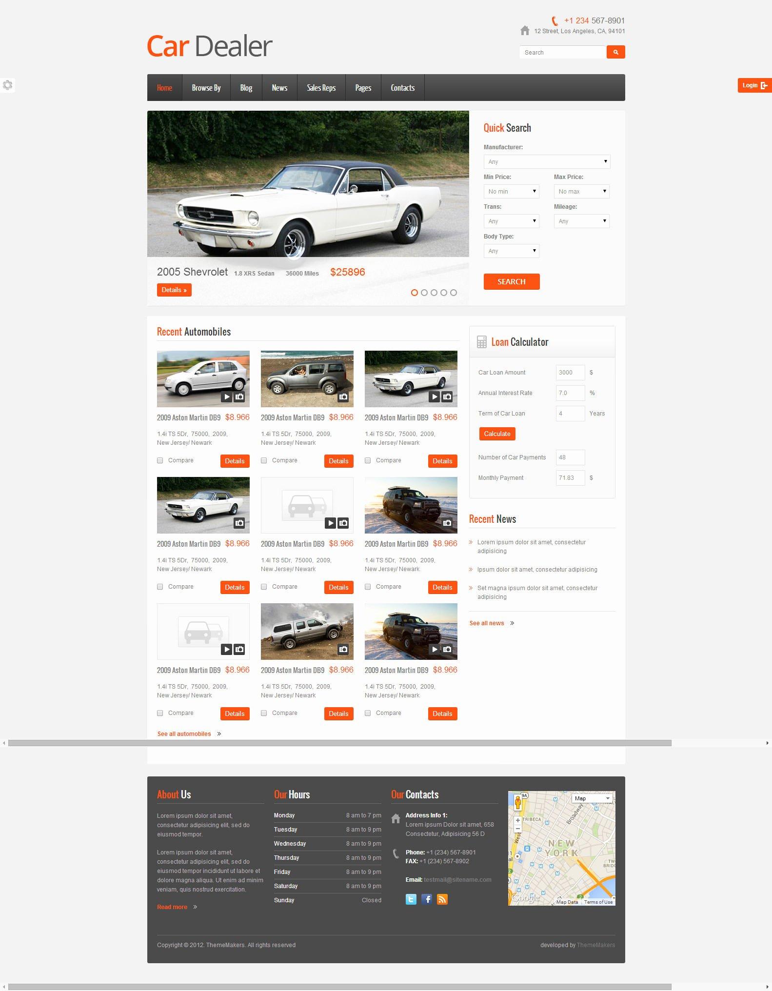 Car Dealer Website Template Free New 22 Best Premium Car Website Templates
