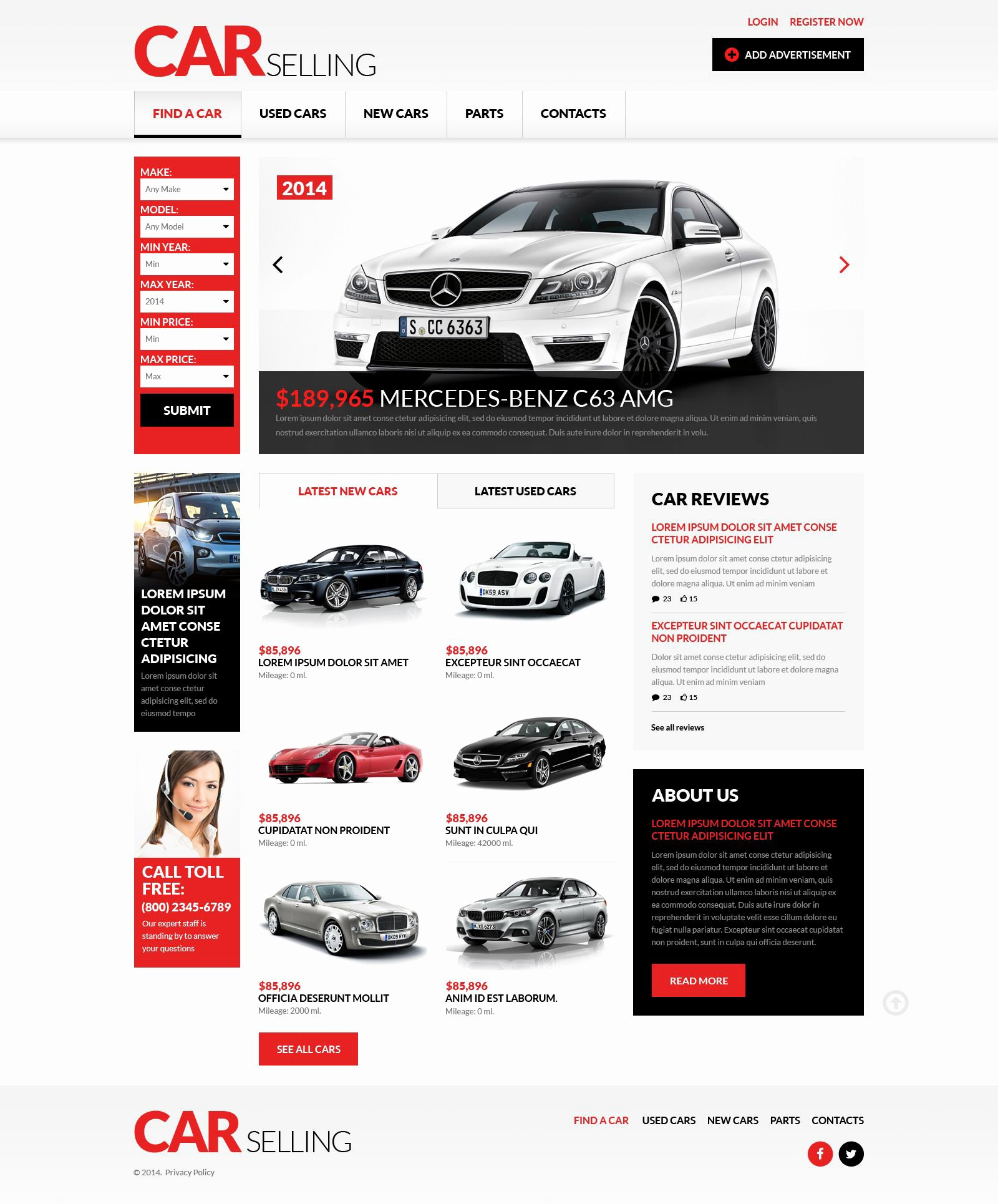 Car Dealer Website Template Free New Car Dealer Responsive Website Template