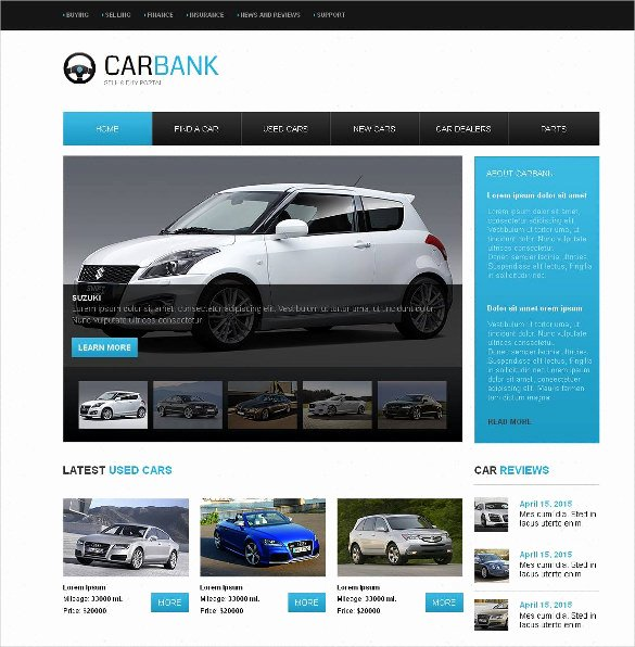 Car Dealer Website Template Free Unique 28 Car Dealer Website themes & Templates