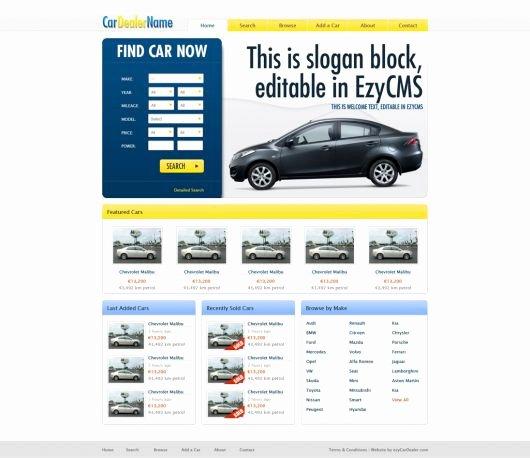 Car Dealer Website Template Free Unique Car Dealer Website Template