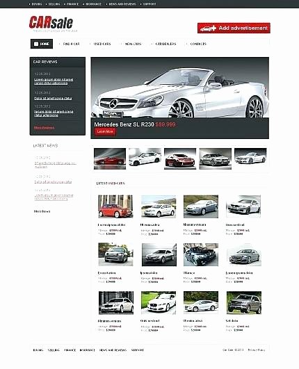 Car Dealer Website Template Free Unique Car Sales Website Template Free