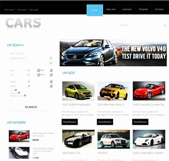 Car Dealer Website Template Free Unique Free Car Selling Website Templates Popteenus