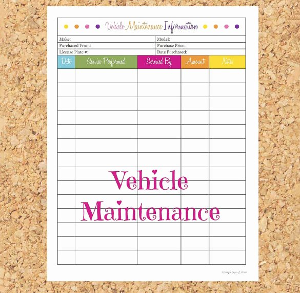 Car Maintenance Schedule Template Best Of Maintenance Schedule Template 21 Free Sample Example