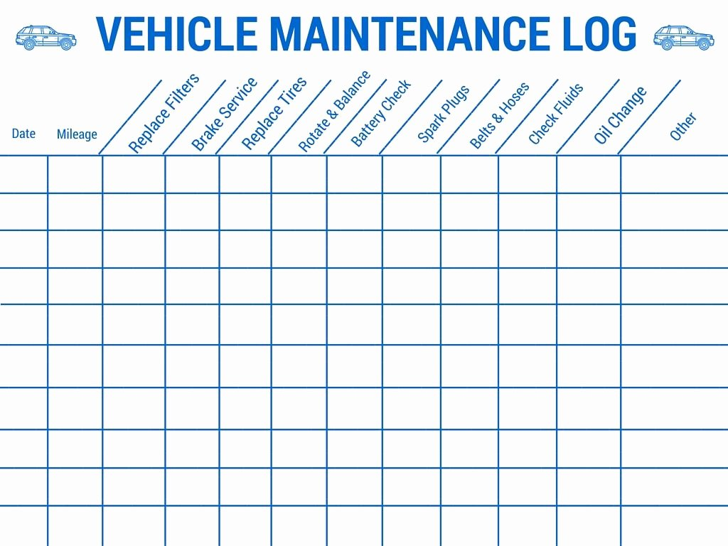Car Maintenance Schedule Template Elegant Vehicle Maintenance Log Stay Safe On Your Up Ing
