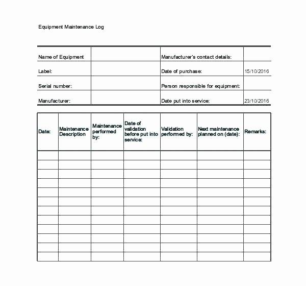 Car Maintenance Schedule Template Fresh Maintenance Excel Templates Sheet Template Vehicle Log