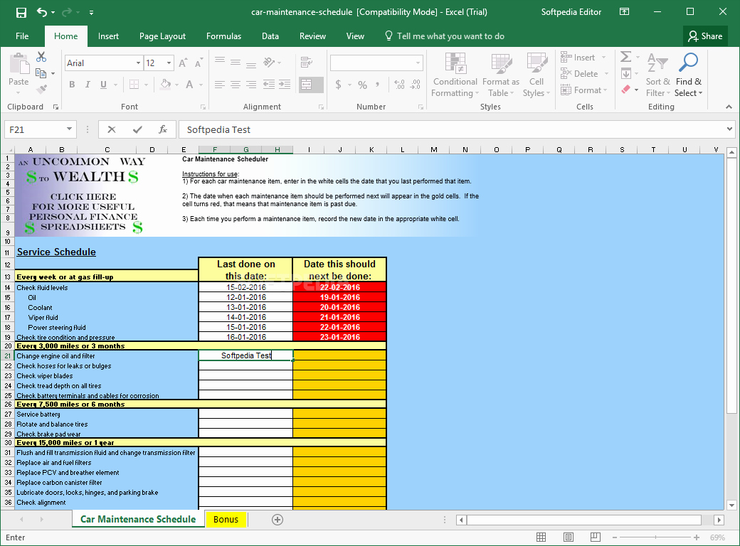 Car Maintenance Schedule Template Unique Download Car Maintenance Schedule Spreadsheet