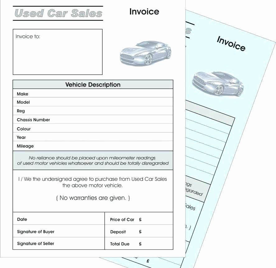 Car Sales Invoice Template Beautiful Used Car Sales Invoice Used Car Sales Invoice Template