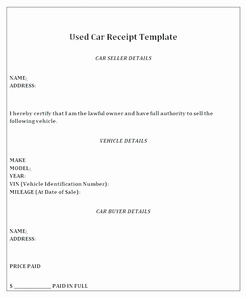 Car Sales Invoice Template New Car Sales Invoice Used Car Sale Invoice format