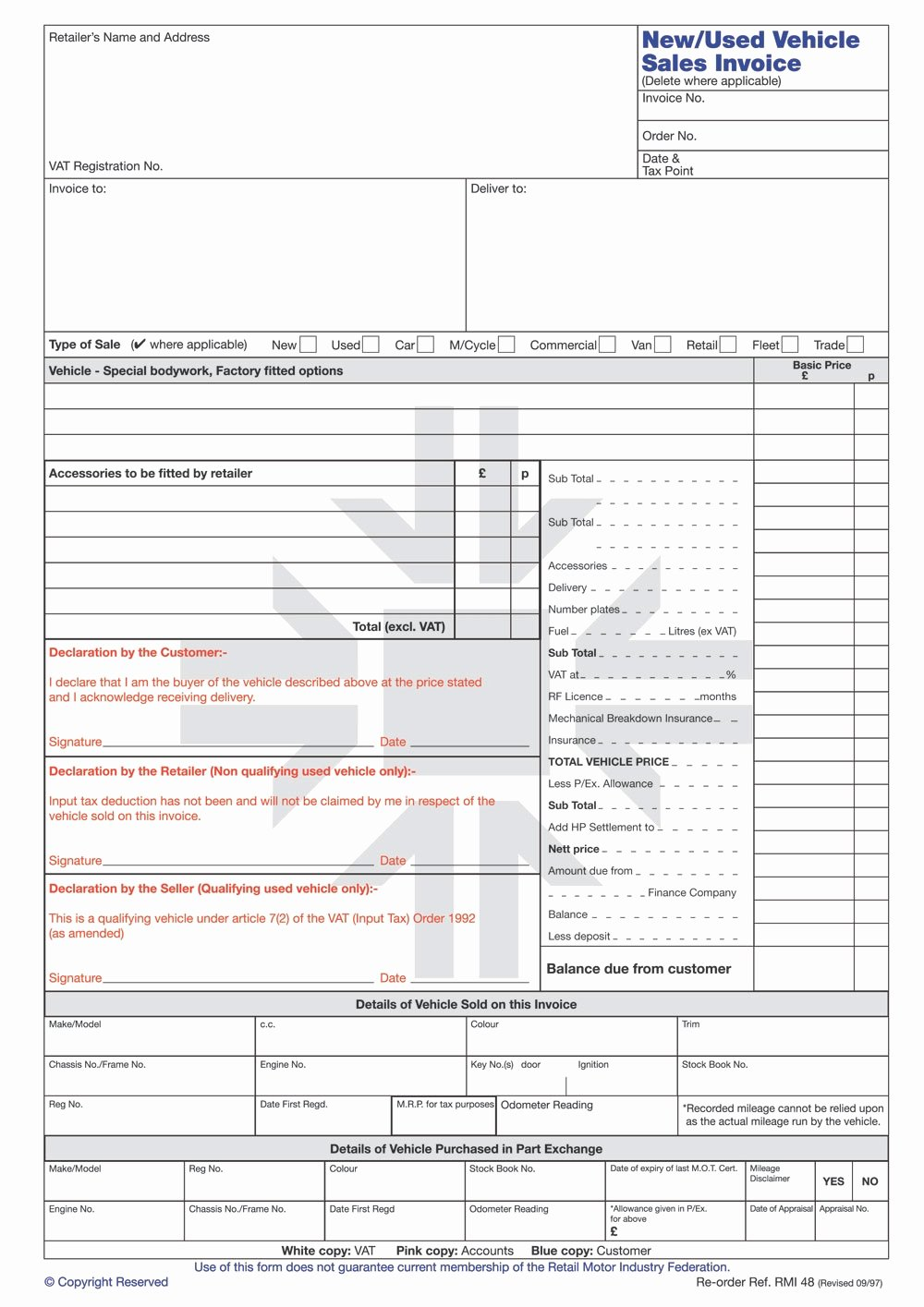 Car Sales Invoice Template New Vehicle Sales Invoice Invoice Template Ideas