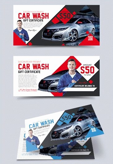 Car Wash Gift Certificate Template Awesome Car