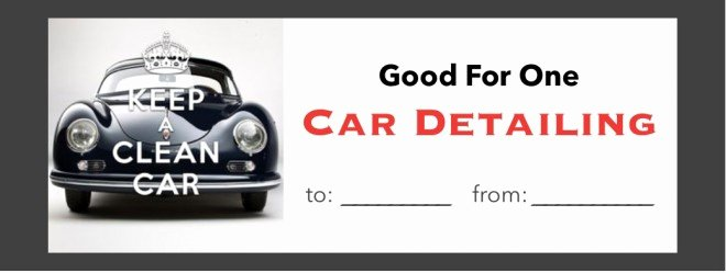 Car Wash Gift Certificate Template Beautiful 10 Priceless Ts that Cost Almost Nothing