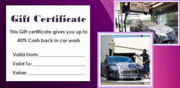 Car Wash Gift Certificate Template Elegant 16 Personalized Auto Detailing Gift Certificate Templates
