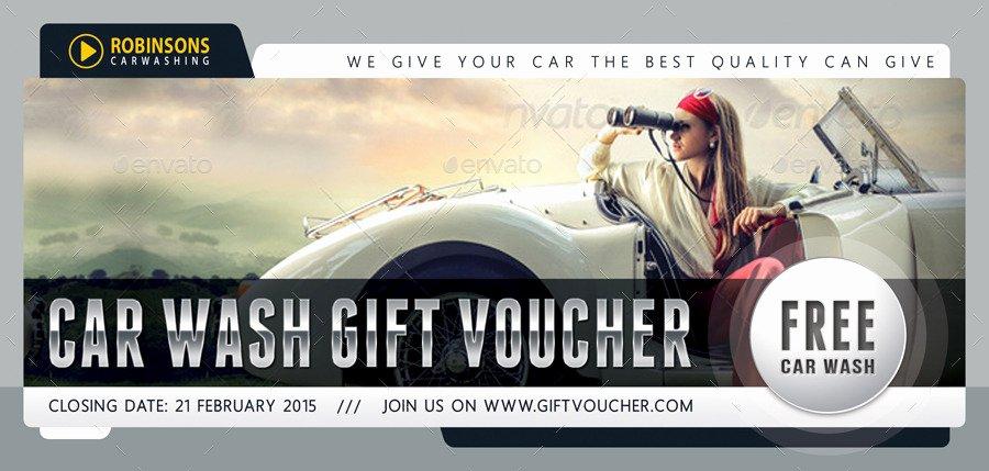 Car Wash Gift Certificate Template Elegant Car Wash Gift Voucher Template V03 by Rapidgraf