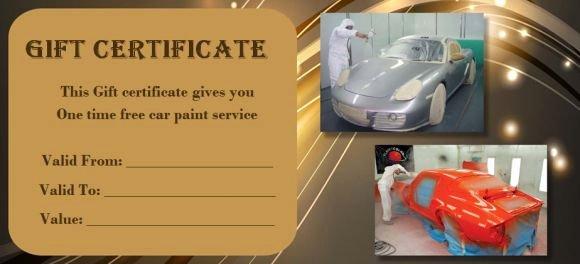 Car Wash Gift Certificate Template Fresh 16 Personalized Auto Detailing Gift Certificate Templates