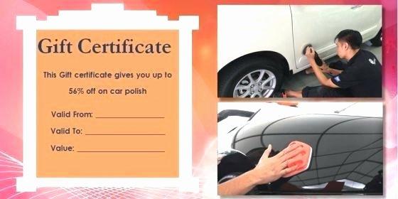 Car Wash Gift Certificate Template Fresh Car Gift Certificate Template Here to View R