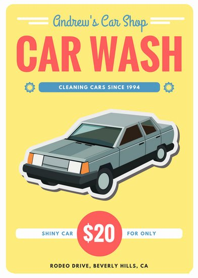 Car Wash Gift Certificate Template Inspirational Customize 77 Car Wash Flyer Templates Online Canva
