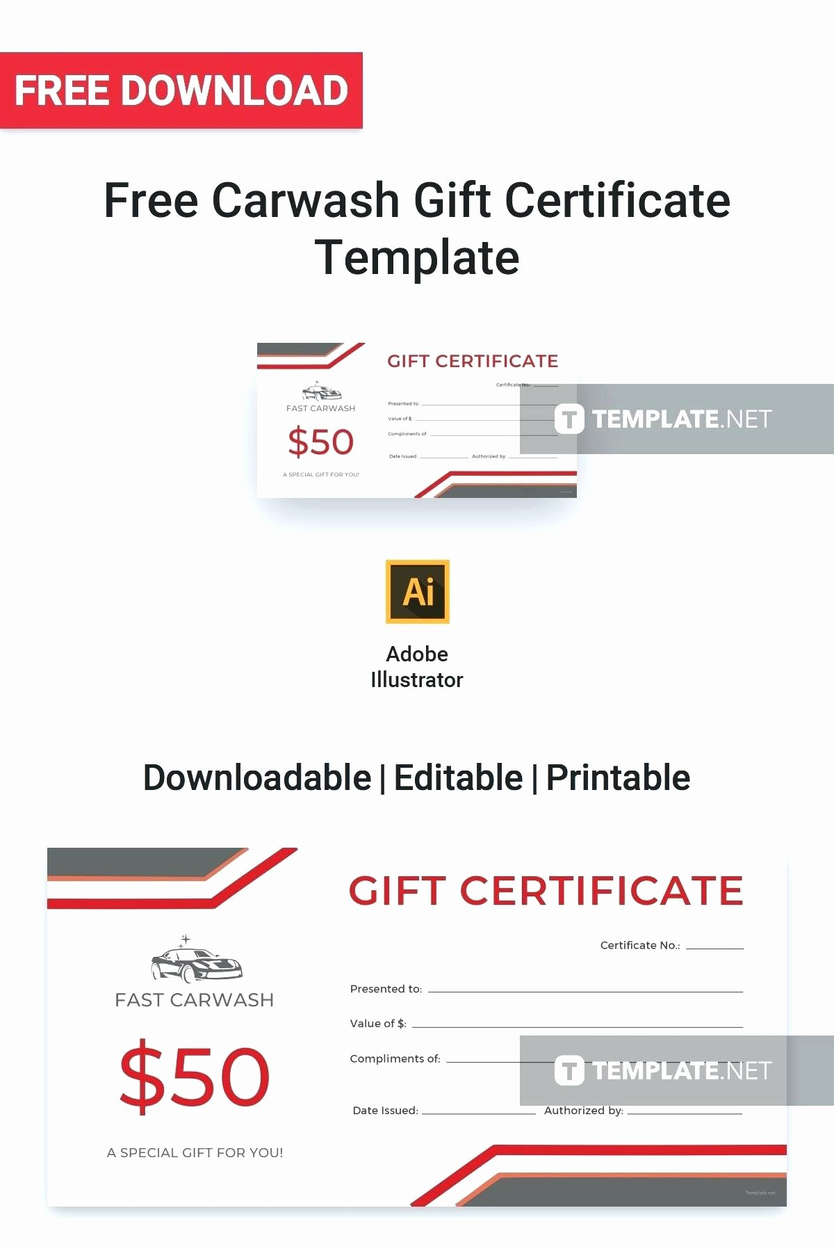 Car Wash Gift Certificate Template Lovely Car Wash T Certificate Template – Offthetrail