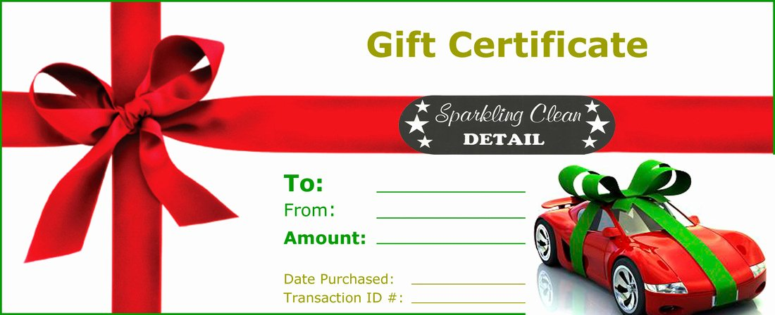 Car Wash Gift Certificate Template Lovely Line Gift Store Sparkling Clean Car Wash