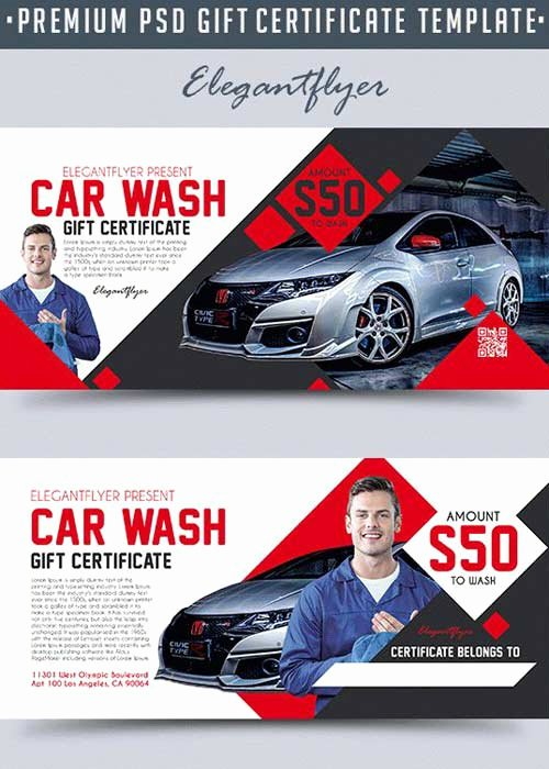 Car Wash Gift Certificate Template Luxury Flyers Страница 4