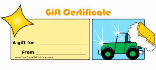 Car Wash Gift Certificate Template New Car Care now