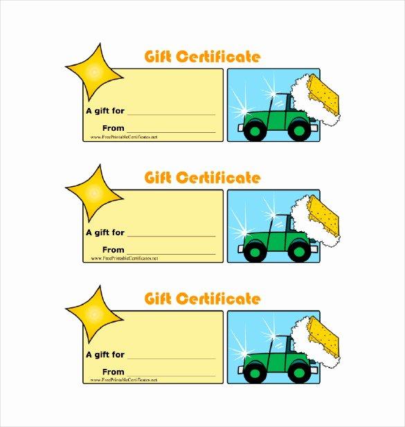 Car Wash Gift Certificate Template Unique 8 Homemade Gift Certificate Templates Doc Pdf