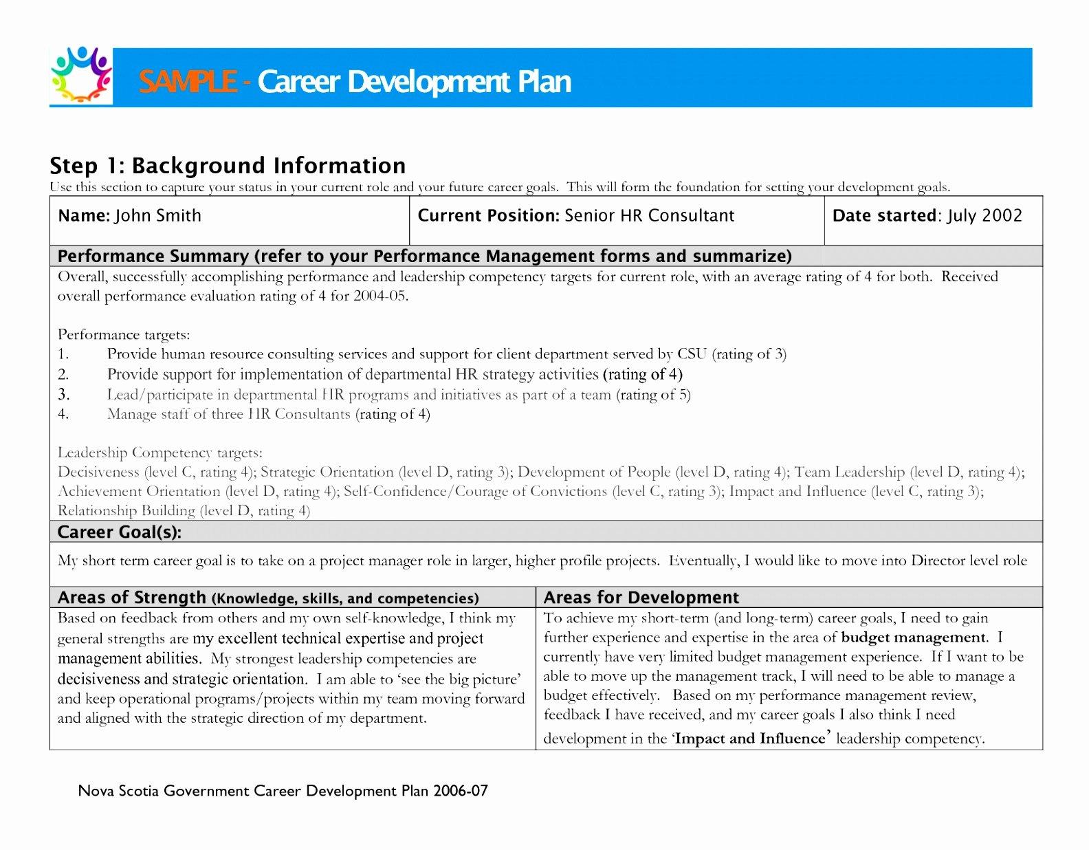 Career Development Plan Template Awesome 6 Personal Career Plan Template Uytia