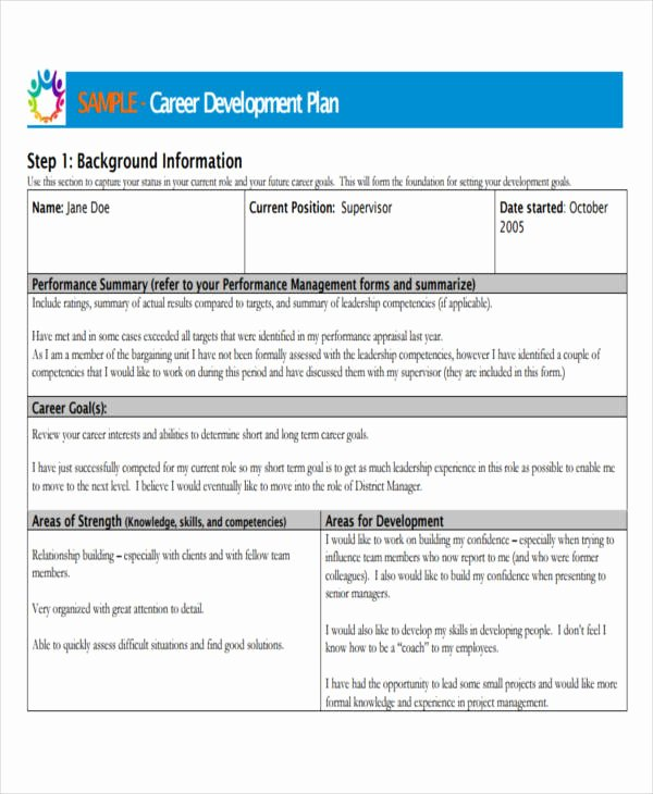 Career Development Plan Template Beautiful 22 Development Plan Templates