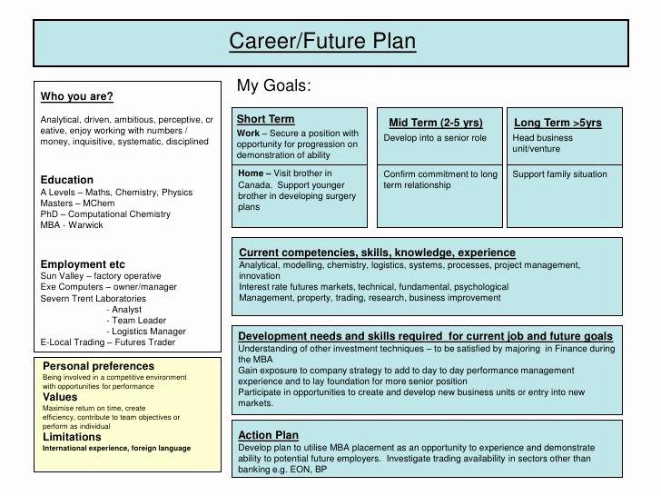 Career Development Plan Template Fresh Best 25 Personal Development Plan Template Ideas On
