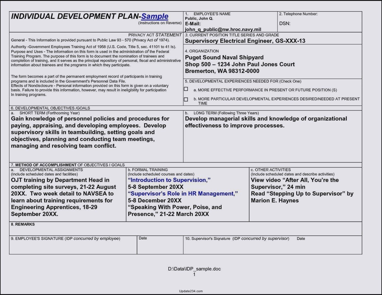 Career Development Plan Template Inspirational Career Development Plan Template Doc Template Update234