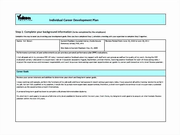 Career Development Plan Template Inspirational Employment Plan Template Career Development for Employees