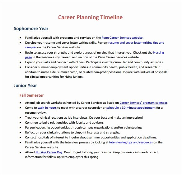 Career Development Plan Template Lovely 15 Career Timeline Templates – Samples Examples & format