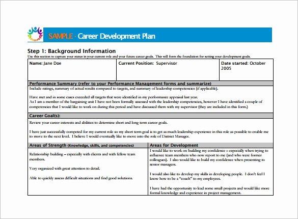 Career Development Plan Template Luxury Career Development Plan Template 10 Free Word Pdf