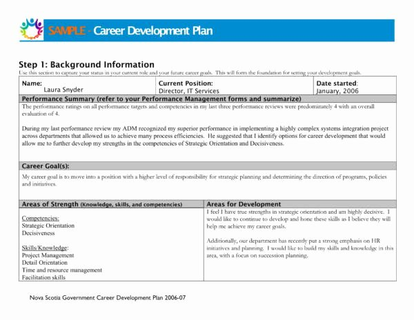 Career Development Plan Template New 9 Career Development Plans – Pdf