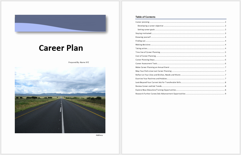 Career Path Planning Template Awesome Career Plan Template – Microsoft Word Templates