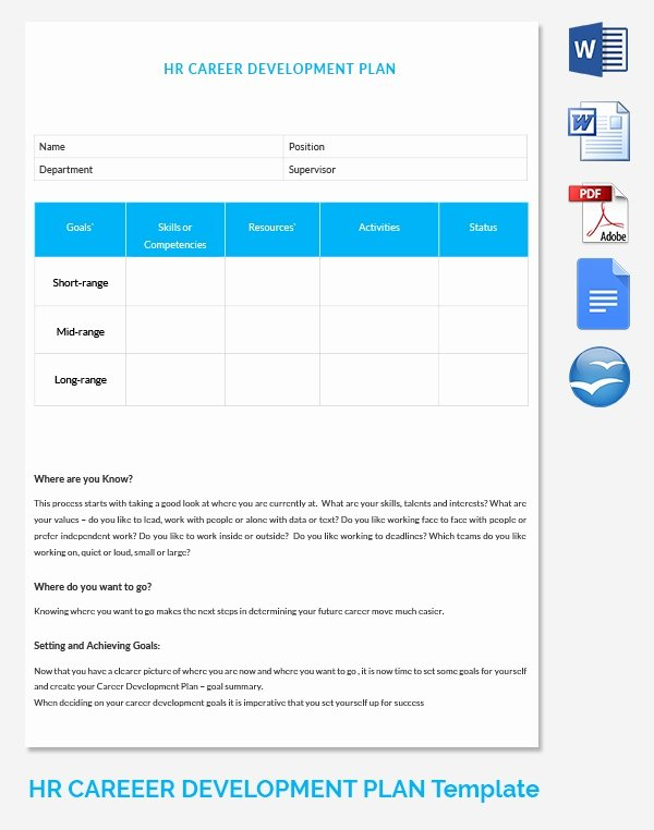 Career Path Planning Template Fresh Hr Career Path Template