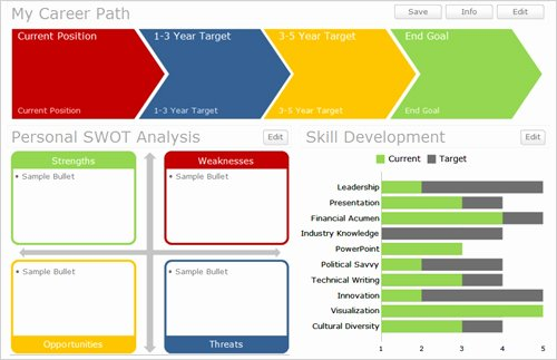 Career Path Planning Template Lovely Dashboards – Page 5 – Data Ink