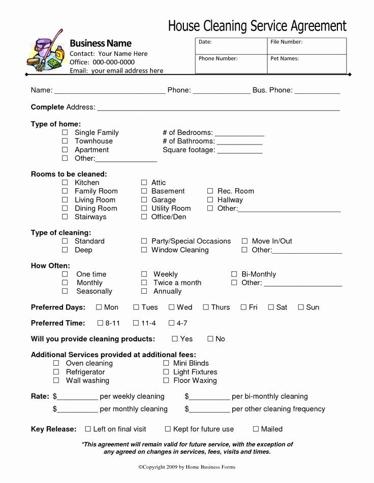 Carpet Cleaning Contract Template Lovely 7 Best Of House Cleaning Services Free Printable
