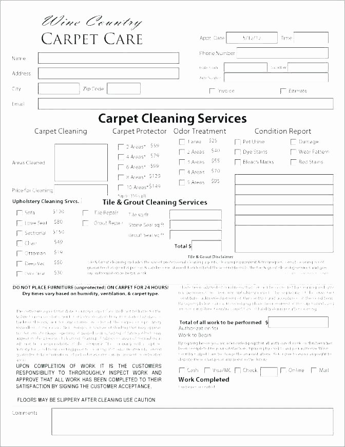 Carpet Cleaning Contract Template New Carpet Cleaning Template Carpet Cleaning Receipt Carpet