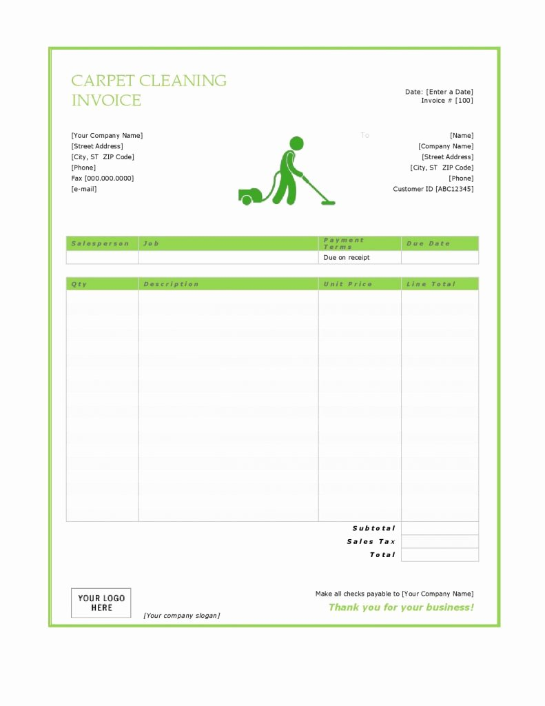 Carpet Cleaning Invoice Template Awesome 27 Blank Invoice Templates Free Word Pdf Psd