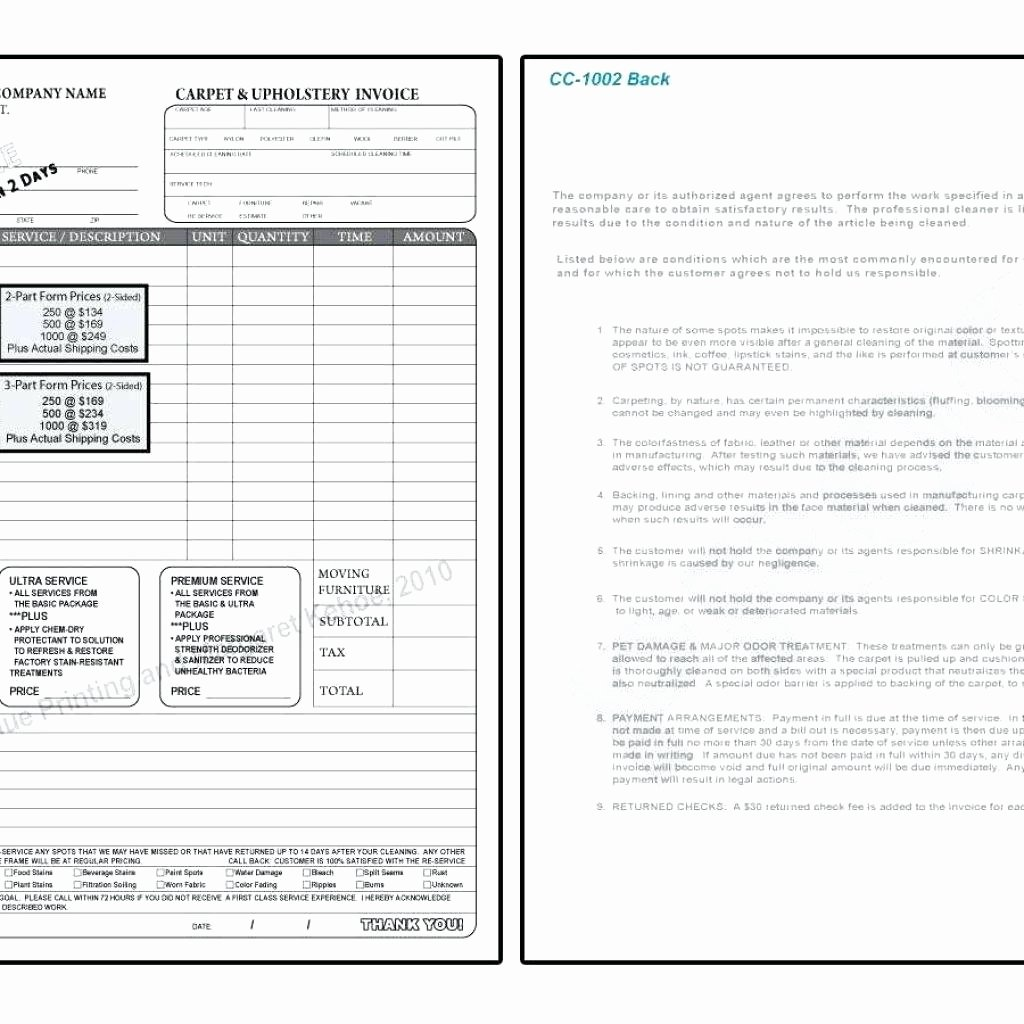Carpet Cleaning Invoice Template Beautiful Template Carpet Cleaning Invoice Template