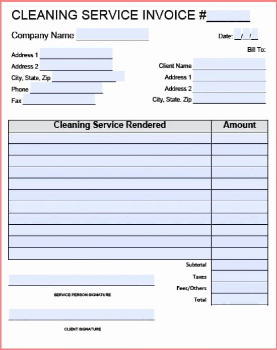 Carpet Cleaning Invoice Template Inspirational Carpet Cleaning Invoice
